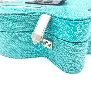 Soul of the Rose Bags - Turquoise faux croc skin guitar travel case